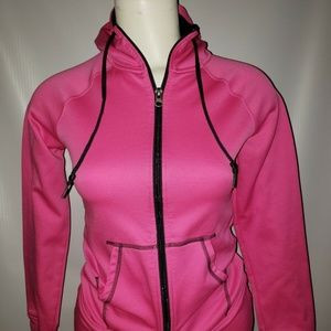 Women's Champion Pink Semi Fitted Long Sleeve Zip